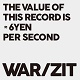 WAR/ZIT/THE VALUE OF THIS RECORDS IS 6YEN PER SECOND