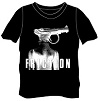 FRICTION/オフィシャルTシャツ (PISTOLデザイン・黒)