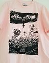 ABIGAIL×STUPID BABIES GO MAD/SPLIT CD記念Tシャツ (ライトピンク)